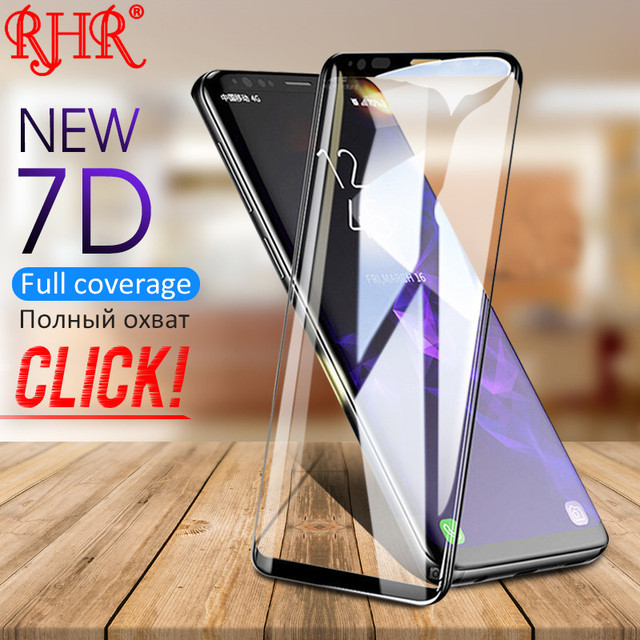 7D Full Curved Edge Tempered Glass For Samsung Galaxy Note 9 Note8 Screen Protector For Samsung S8 S9 Plus Protection Glass Film