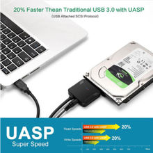 USB3.0 to 2.5 3.5 SATA Hard Drive HDD SDD Converter Adapter PC Cable