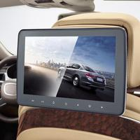 VODOOL 10 inch Car Headrest Monitor DVD Video Player USB/SD/HDMI/IR/FM TFT LCD Digital Screen Touch Button Game Remote Control