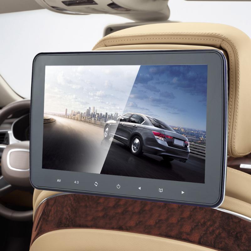 VODOOL 10 pouces voiture appuie-tête moniteur DVD lecteur vidéo USB/SD/HDMI/IR/FM TFT LCD écran numérique bouton tactile jeu télécommande