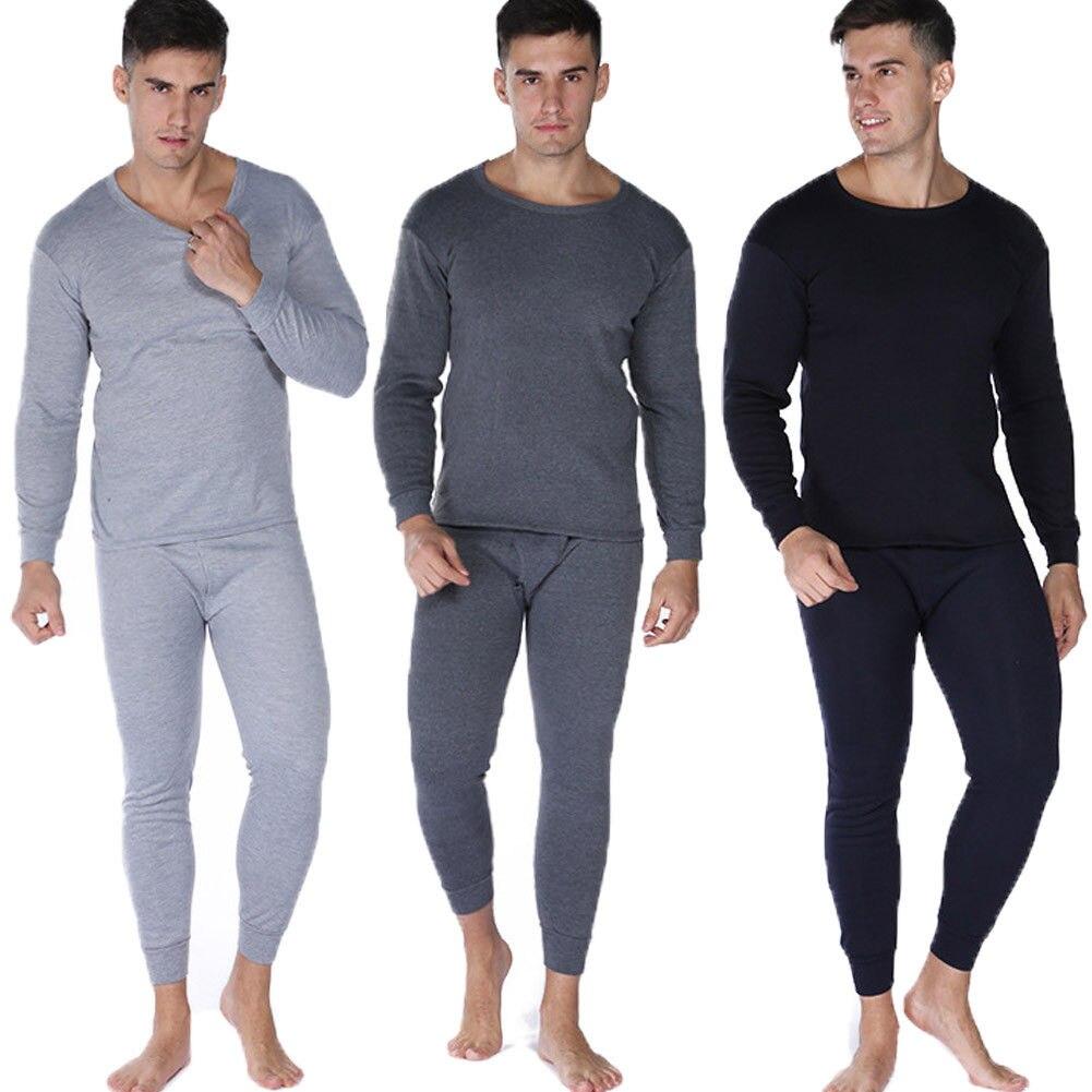 Thermals Mens 2 Pc Long Set Merino Wool Blend Thermal Underwear Black Or Beige
