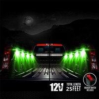 Juego de luces traseras LED RGB para cama de camión-sonido activado inalámbrico remoto Multi-color trabajo resplandor neón Rock iluminación (8 cápsulas)