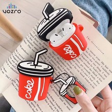 VOZRO Creative Cola Wireless Bluetooth Earphone Case For Apple AirPods Silicone Headphones Cases Airpods 2 Protective Cover