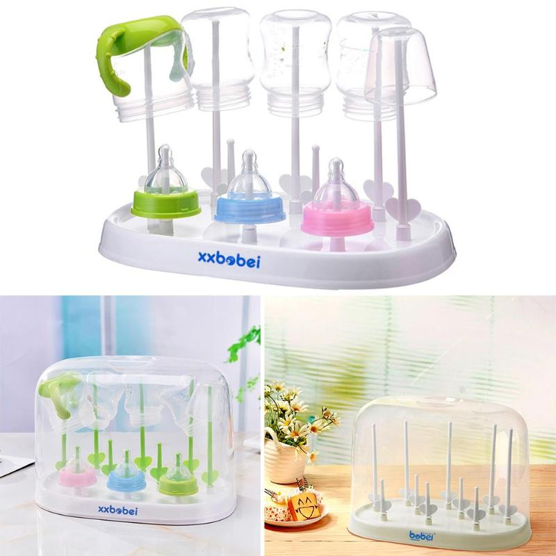 Baby Kid Milk Bottle Dryers Feeding Drainer Cup Drying Rack Shelf Storage Holder