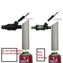 1 Set Nuovo Manuale Ugello di Spruzzo Del Carburante Strumento di Pulizia per La Cura Del Motore Iniettore di Carburante Dispositivo di Lavaggio di Pulizia Del Sistema di Accessori Per Auto
