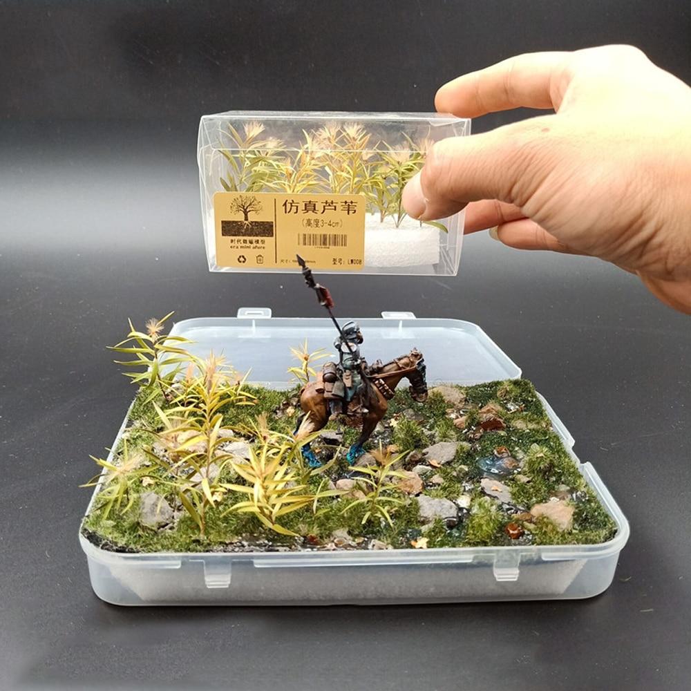Simulation Reed Model Toy 1/35 Grass Cluster Flower Simulation Plant Garden Scene Making DIY Diorama 1 Box 15 Building Train