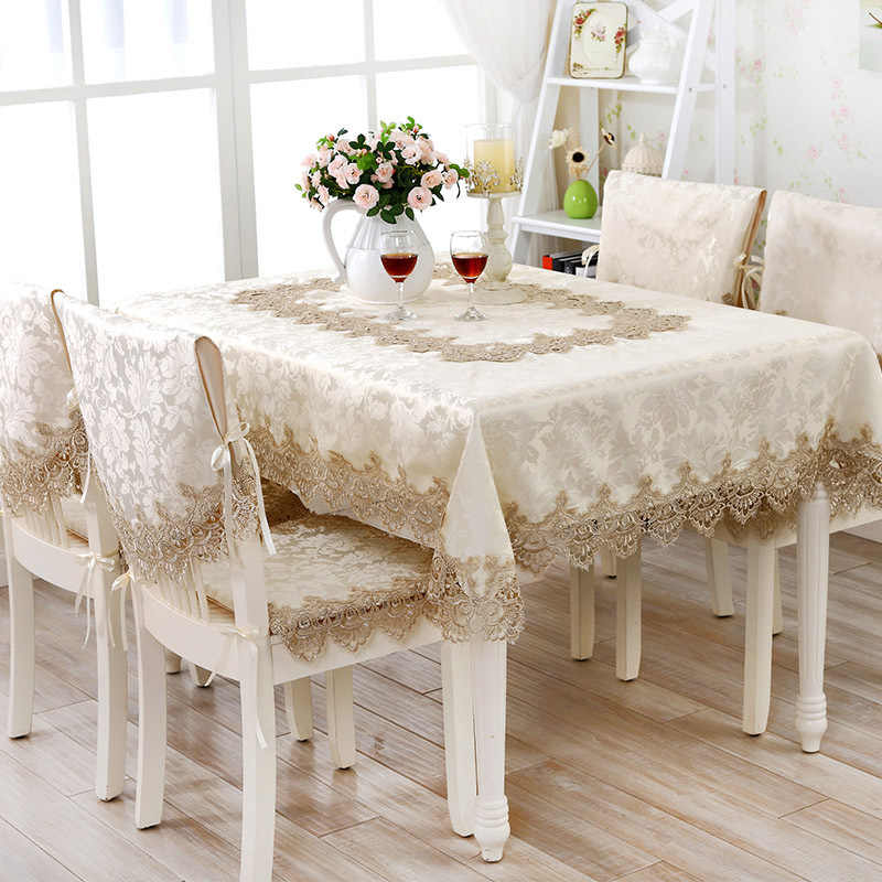 76bd7146882 Multifunctional 2019 Home Textiles Hot Sale Elegant Lace Tablecloths  Jacquard Wedding Table Cloth Chair Covers Decoration