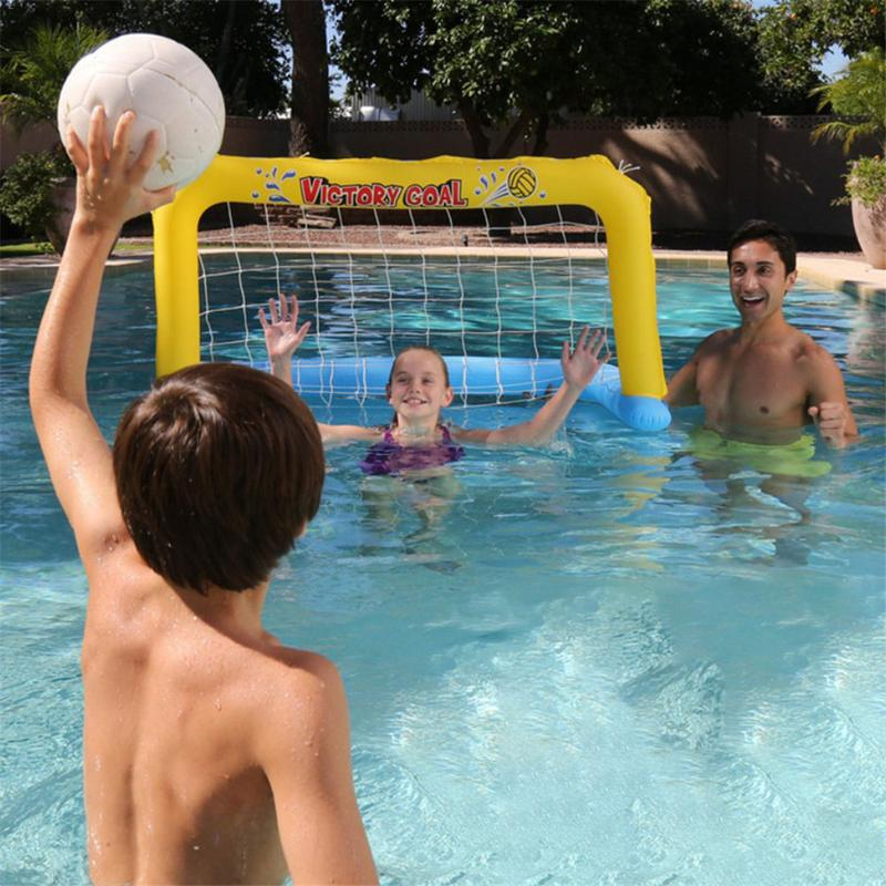 Water Inflatable Toy Swimming Pool Basketball Volleyball Handball PVC Plastic Nylon Mesh Water Ball Play Model Set For Children