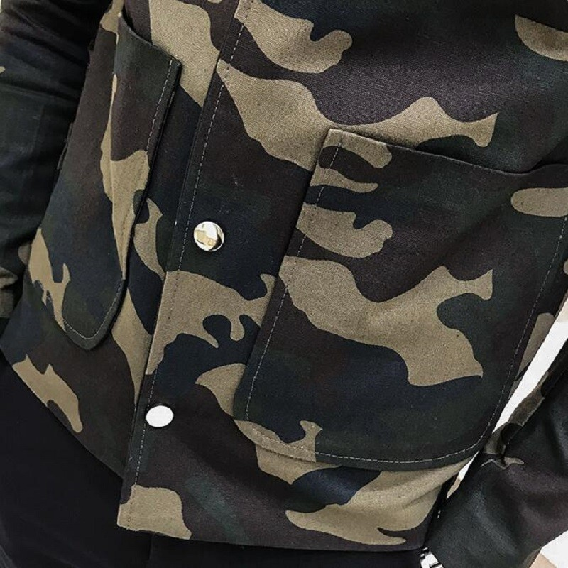 Spring Fashion Self cultivation Camouflage brand Jacket coats Loose Coat military jackets chaqueta hombre streetwear clothes in Jackets from Men 39 s Clothing