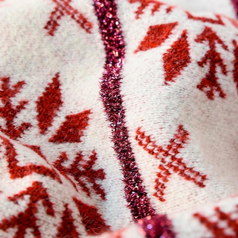 white Femme De Hiver Pull Haute Neige Automne Rond Chandail Mode Tricoter À creamy Red Japonais Étudiant Col Date Qualité 1qxAqw4U