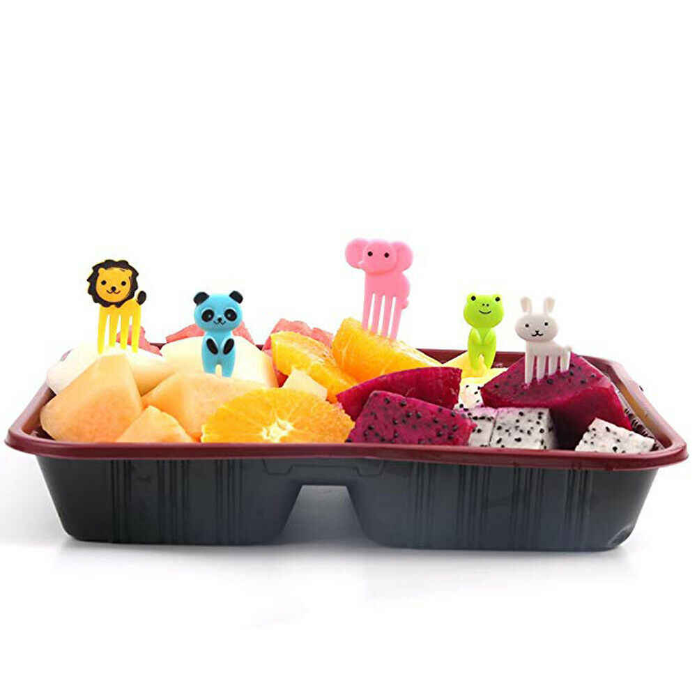 Ferramentas da cozinha 10 pcs Animal Bonito Lancheira Alimentos Picaretas Frutas Forks Acessório Decoração Ferramentas