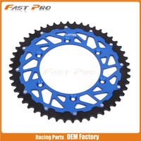48T CNC Rear Chain Sprocket Steel and Aluminum For YZ125 YZ250F YZ450F Enduro Motocross MX Racing Offroad Motorcycle Dirt Bike