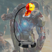 American Captain Heroes LED Night Lamp Table Lamp Spider-Man Hulk Iron Man Avengers Alliance Bedroom Living Room Deco Night Lamp(China)