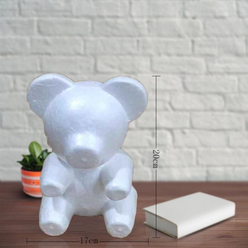 Cute Foam Bear Model Kids Toys DIY Craft Artificial Rose Flower Toys For Children Girls Birthday Valentine's Gift Easter Present