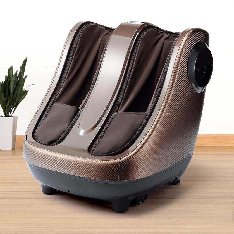 De pie eléctrico masajeador piel máquina de Shiatsu amasar material rodante de compresión de aire masaje de pies con calor pierna esteticista masajeador