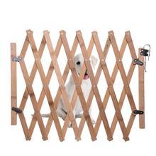 Защитные растягивающиеся ворота для собак, забор для питомцев, деревянный забор, выдвижные ворота для безопасности детей, регулируемые принадлежности для собак, раздвижные двери
