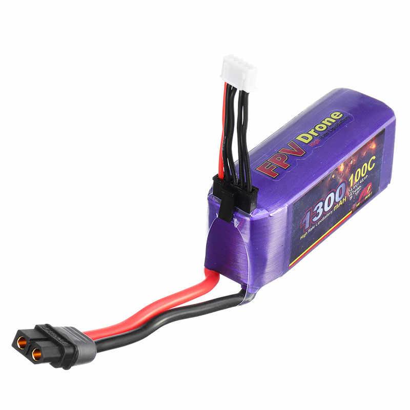 Мой красный берет 14,8 V 1300 мА/ч, 100C 4S Перезаряжаемые Lipo Батарея XT60 разъем для Eachine Tyro99 гоночного дрона с видом от первого лица