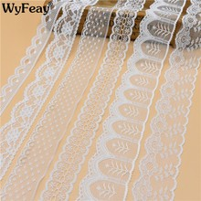 Beautiful 10 Yards White Lace Ribbon Wide french african lace fabric lace trimmings for sewing accessories Embroidered Clothing(China)