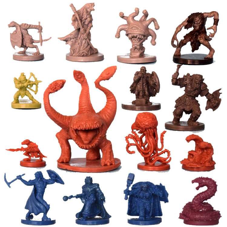 1/72 Scale Models Board Game Dragon And Dungeon DND Running Group Role Playing Resin Model Toys For Children Free Shipping