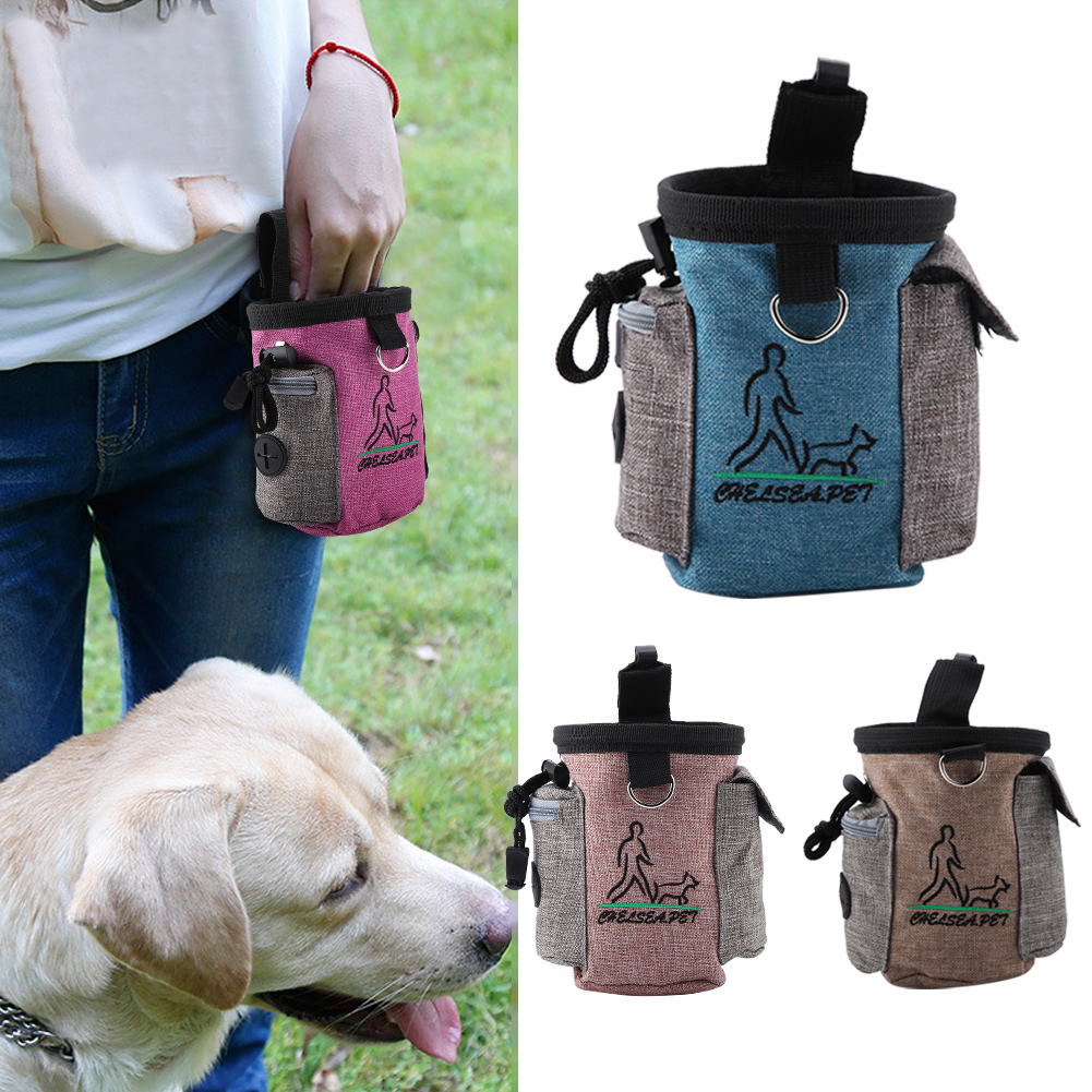 Pet Dog Training Food Treat Bags Pet Walking Feed Pocket Pouch Agility Bait Snack Reward Waist Bag Portable Storage Bags