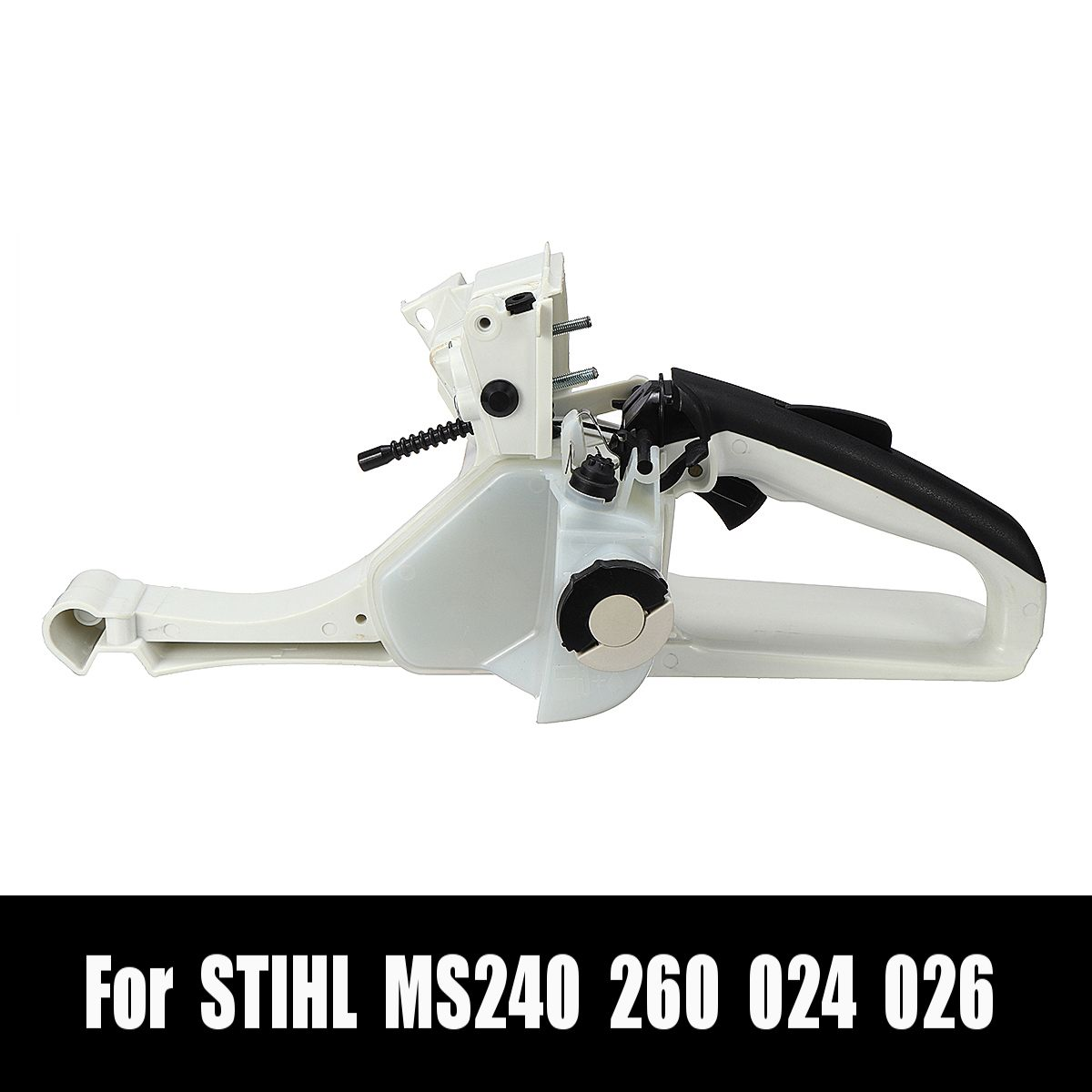 Gas Fuel Tank Rear Handle Alloy+Plastic For STIHL MS260 MS240 026 024 Chainsaw 1121 350 0829 40x16x12.5cm Garden Power Tools