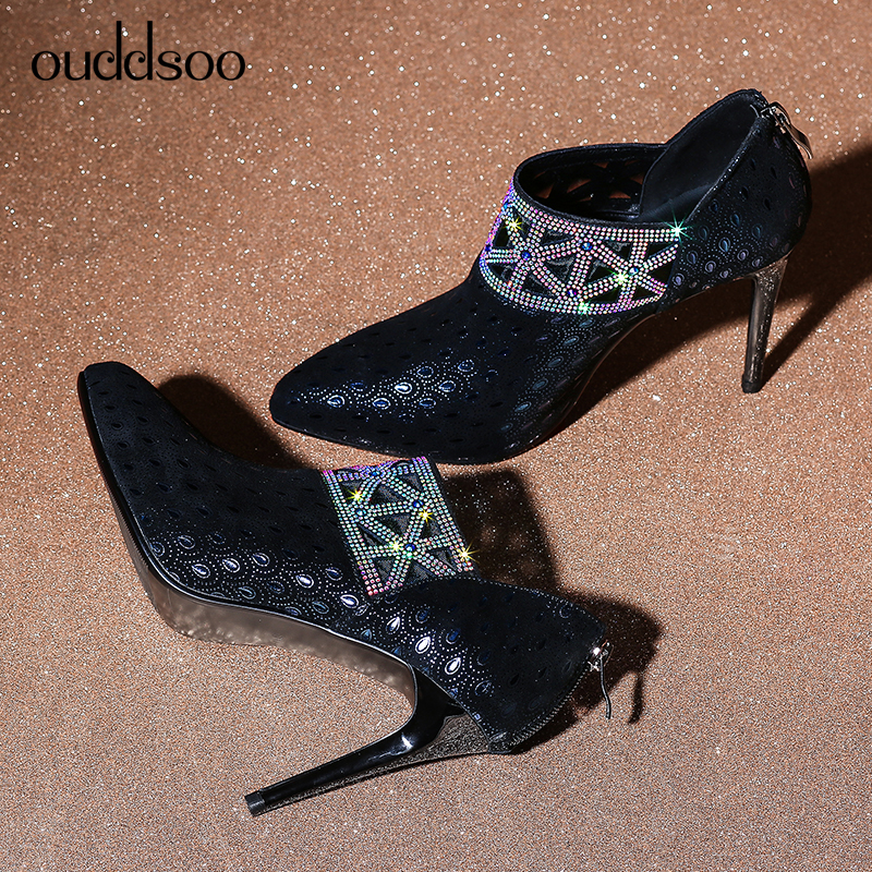 US $58.28 53% OFF|2019 Glitter Gorgeous Pumps Female Stilettos Crystal Queen High Heel Women Crystal Bridal Wedding Shoes Diamond Femme Talon Blue in