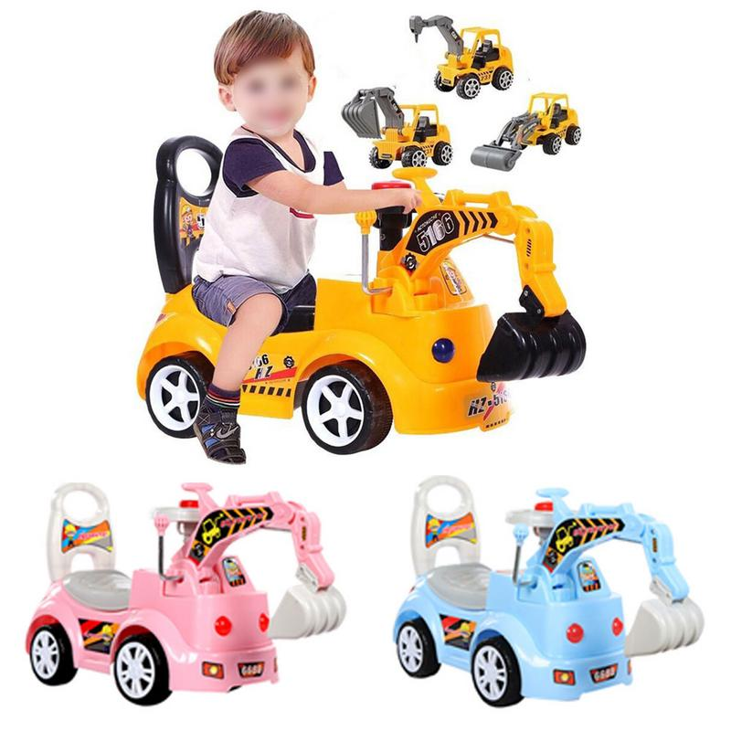 Childrens Electric Excavator Scooter Toy with Music Engineering Car ModelChildrens Electric Excavator Scooter Toy with Music Engineering Car Model