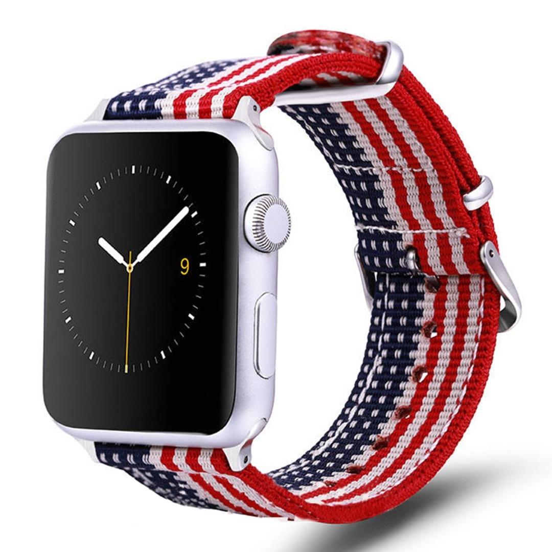 Shellhard Rainbow Sport Woven Nylon Watch Band 2 Styles Nylon Watch Strap For Apple iWatch 1/2/3/4 38/40/42/44mm Wristband часы watch styles richard mille