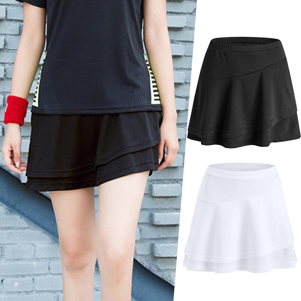 2019 Sports Tennis Yoga Skorts Fitness Short Skirt Badminton Breathable Quick Drying Women Sport Anti Exposure Tennis Skirt