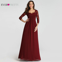 Plus Size Mother Of The Bride Dresses For Weddings Ever Pretty Burgundy Lace A line Chiffon Formal Party Gowns for Wedding Guest