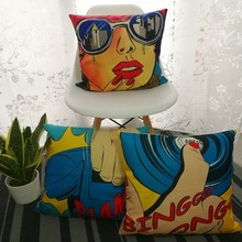 Pop Art Phone And Ring Cushion Covers DIY Decorative Square Throw Pillow Cover Chair Sofa Seat Car Cotton Linen  Pillowcase Soft цены