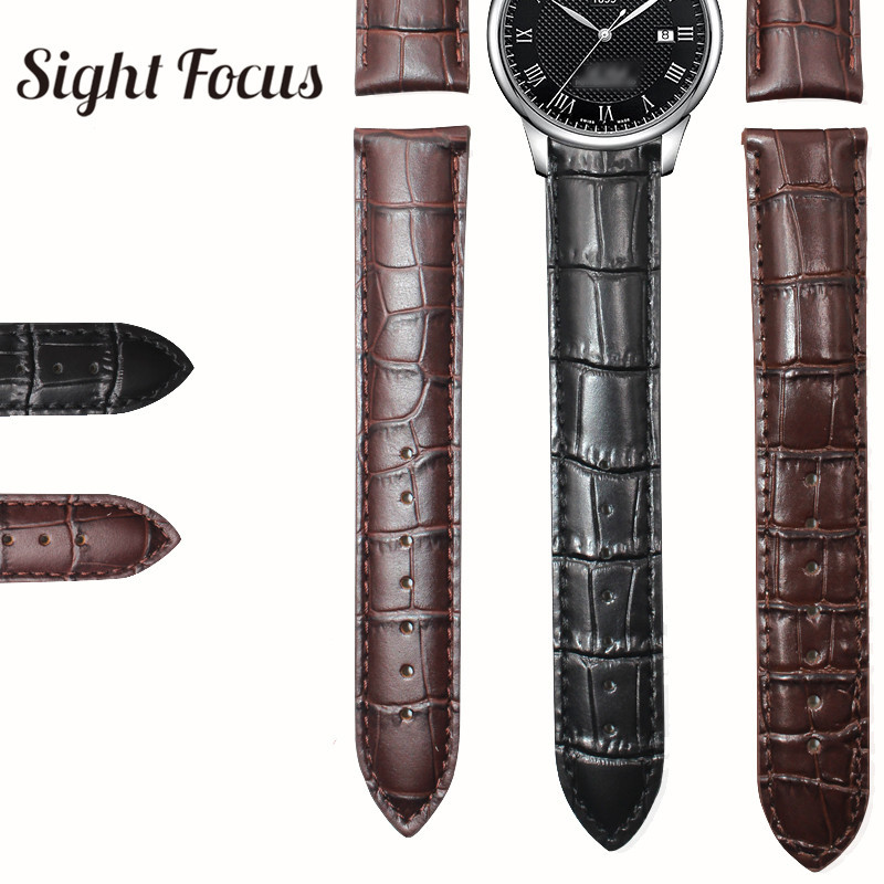 <font><b>19mm</b></font> 20mm 22mm Leather Watch Bands for Tissot Le Locle T41 T063 T17 T014 <font><b>PRC200</b></font> T099 T085 Watch Strap Wrist Watch Bracelet Logon image