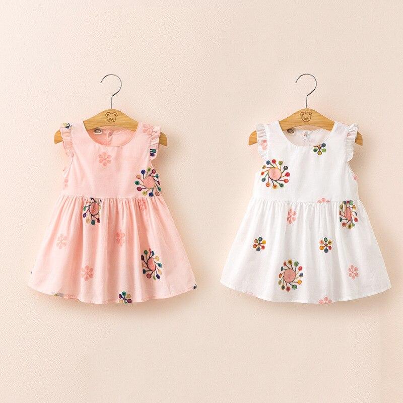 EAZII Children's Clothing New Summer Embroidered Girl Dress Children Cute Princess Dresses Little Girl Korean-Style Tank Dress