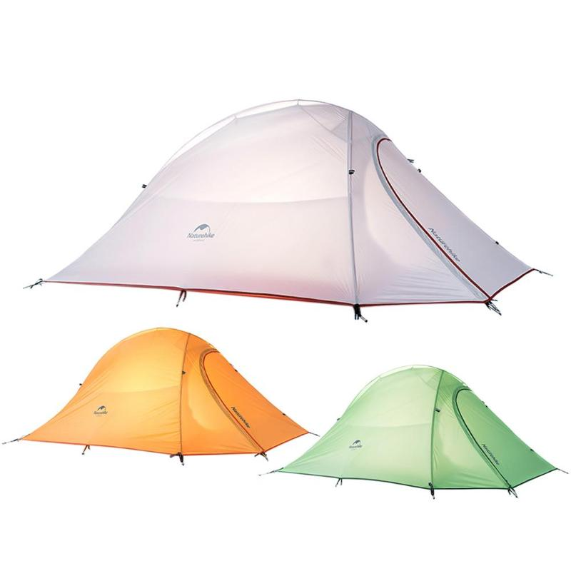 Naturehike Outdoor Camping Travel Tent Three Seasons Double Layer Sleeping Tents for 2-person Silicone Coating Waterproof Hiking mobi outdoor camping equipment hiking waterproof tents high quality wigwam double layer big camping tent