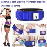 Пояс для похудения массажный Электрический Вибрационный пояс для тренировки талии ноги живота сжигание жира нагревательный массажер живо...
