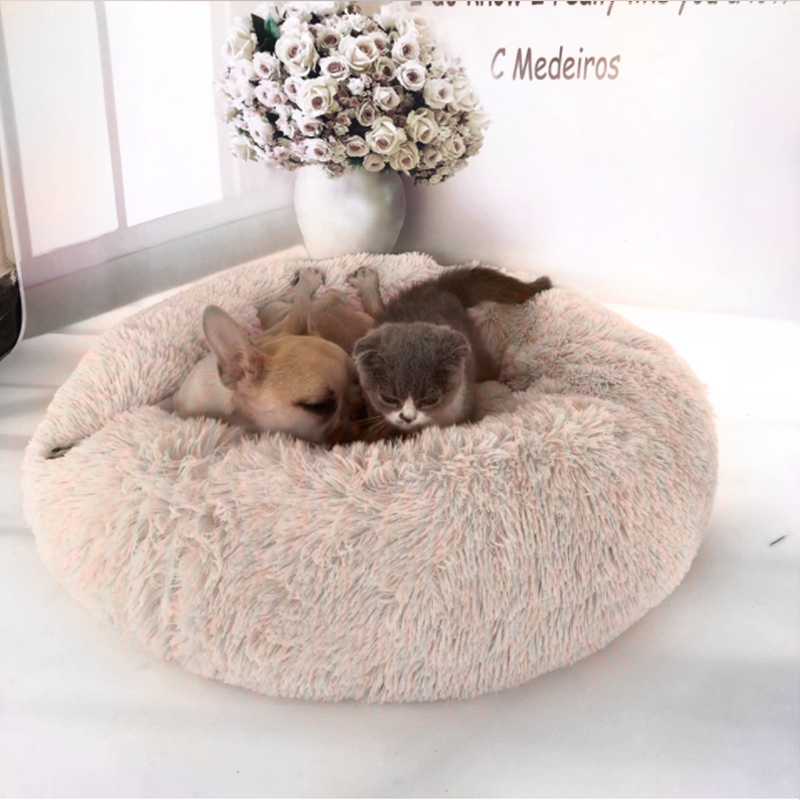 50x50cm Long Plush Super Soft Pet Bed Kennel Dog Round Cat Winter Warm Sleeping Bag Puppy Cushion Mat Portable Cat Supplies50x50cm Long Plush Super Soft Pet Bed Kennel Dog Round Cat Winter Warm Sleeping Bag Puppy Cushion Mat Portable Cat Supplies