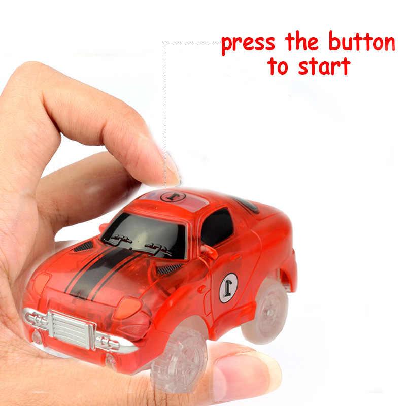 Magical TRACK ตลก Glowing Race GLOW In The Dark รถแข่งรถ DIY TRACK อุปกรณ์เสริมของขวัญของเล่นเพื่อการศึกษาสำหรับเด็ก boy