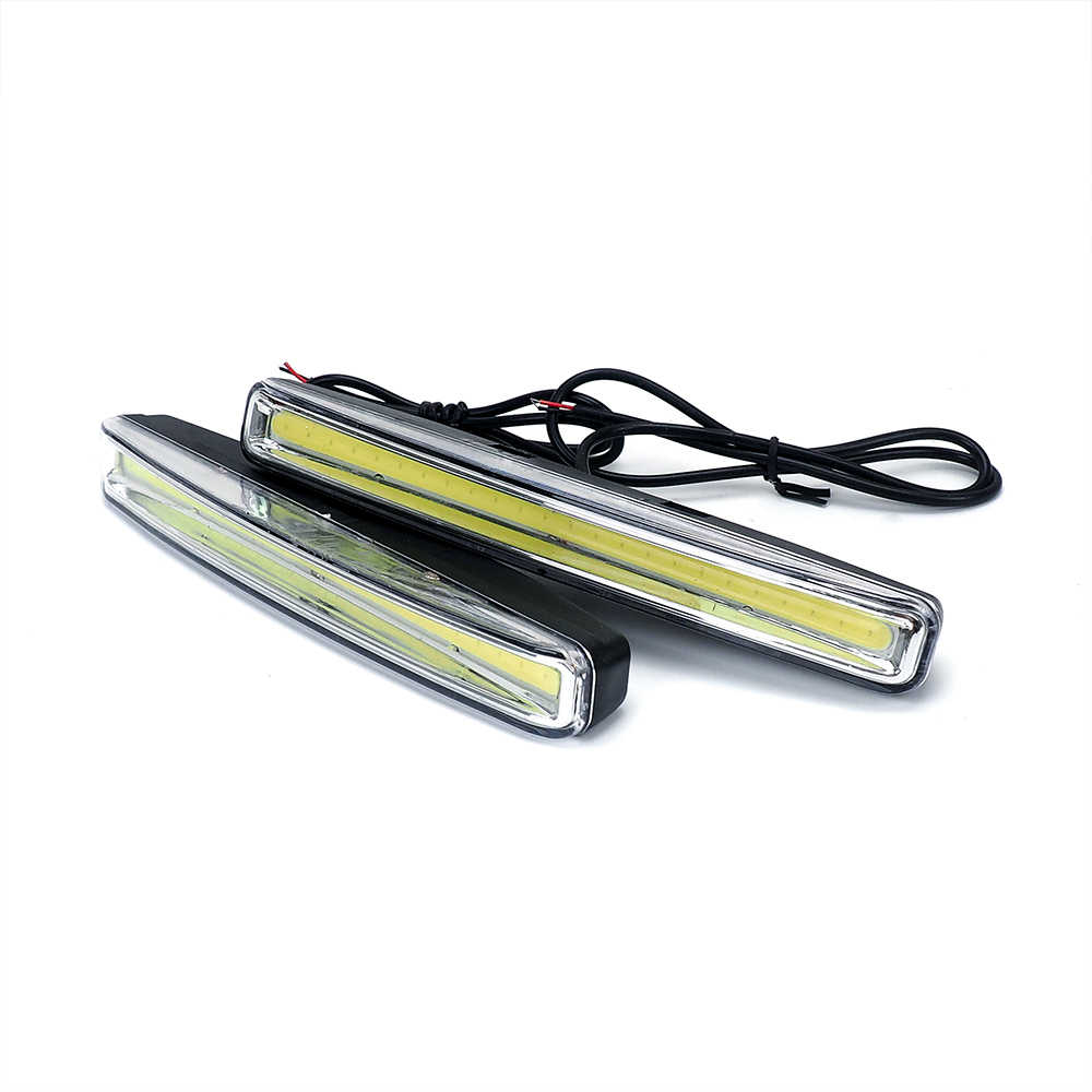 1 par de luces de circulación diurna de coche DRL LED 6 LEDs DC 12V luces antiniebla automáticas luces de conducción coche-syling Super brillante para peugeot 206