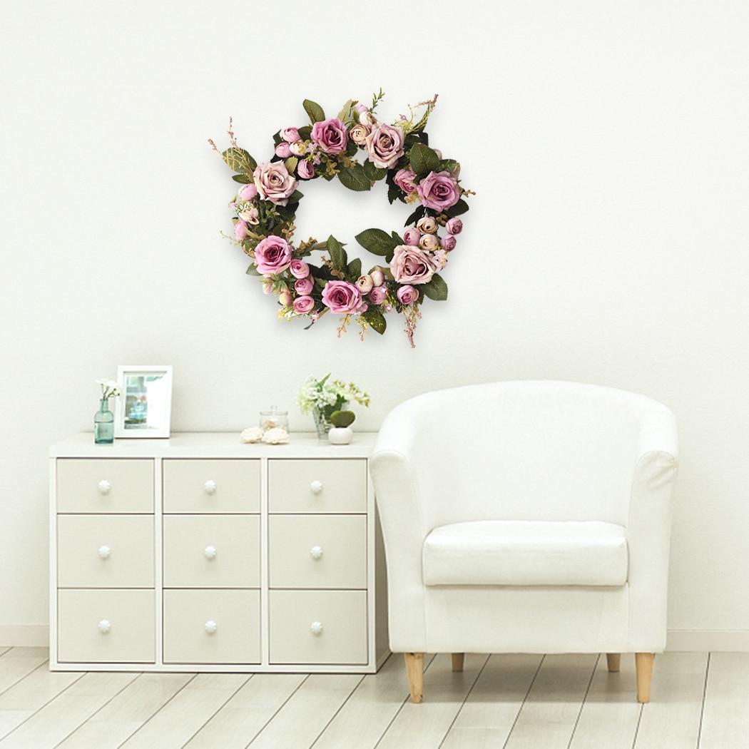 13 78 39 39 Beautiful High Quality Exquisite Rose Tea Flower Flower Wreath Door Decoration Wedding Home Decoration Supplies in Wreaths amp Garlands from Home amp Garden