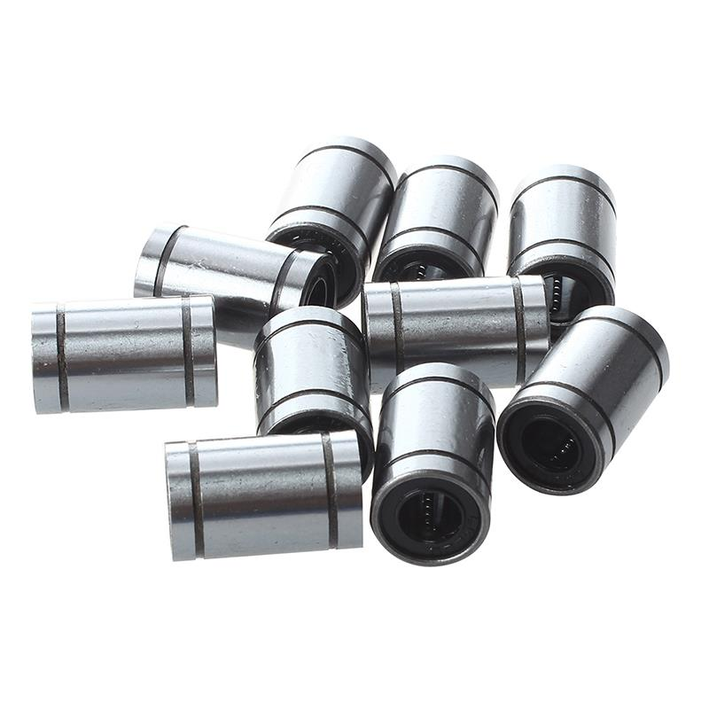 10 Pcs 8 Mm LM8UU Linear Ball Bear Bearing 100% Brand New And High Quality Ball In The Cage Loop To Run A Smooth Ball Guide
