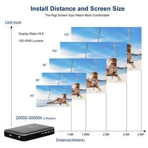 Image 5 - סופר זול 200ansi חכם טלפון מיני מקרן עם סוללה, Wired אותו מסך LED DLP מולטימדיה מקרן, וידאו משחק Proyector