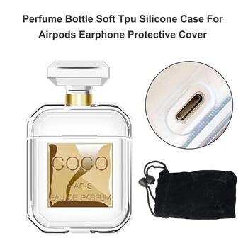 Silicone Perfume bottle Wireless Bluetooth Headset Cover Shockproof and Drop Clear Soft Headphone Case Earphone Accessories