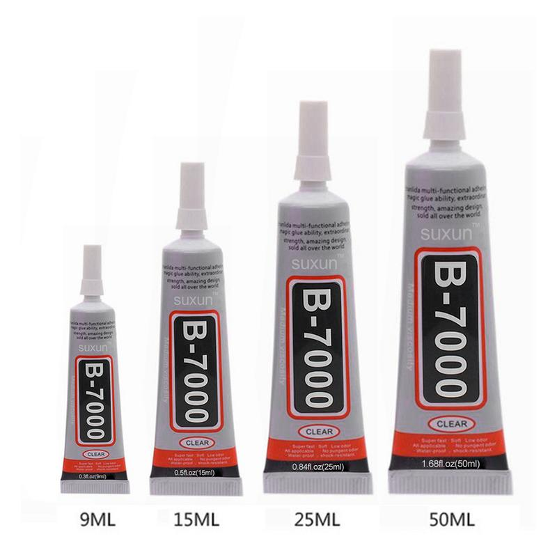 B7000 50ML Multipurpose Adhesive Jewelry Rhinestone Crafts DIY Phone Screen Glass Epoxy Resin Super Liquid Glue B-7000 Nail Gel