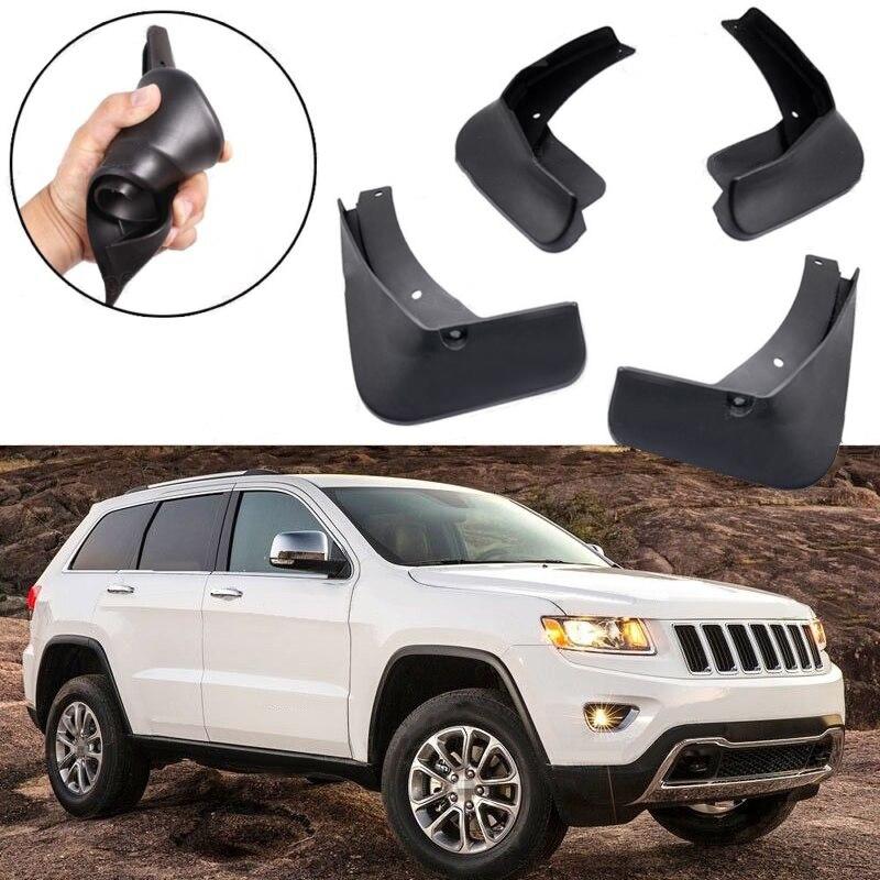 Splash Guard Kit Fender Mudguard for 2011-2018 Jeep Grand Cherokee 4 PCS Car Mud Flap