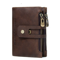 IMIDO Small Wallet Female Women Genuine Leather Credit Card Holder Coin Lady Zipper Money Bag
