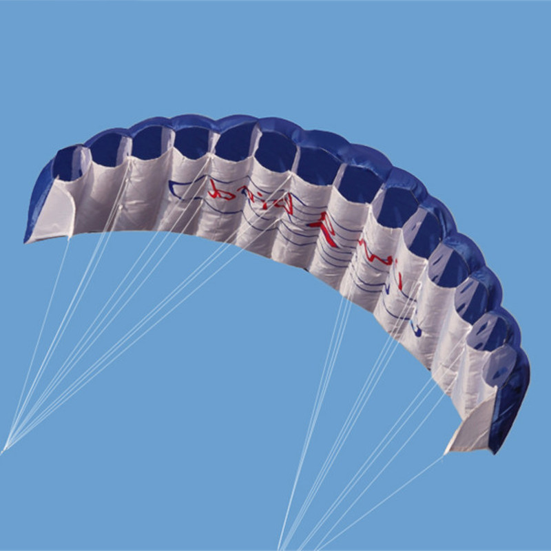 1.4 Meter Nylon Power Double Line Parafoil Soft Kites Flying Sports Beach Stunt Kite with Handle Ripstop Outdoor Kitesurf