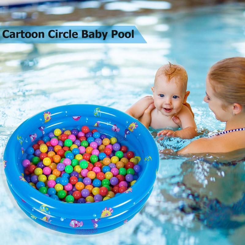 Детский надувной бассейн с мультяшным рисунком, надувная мягкая нижняя подушка, экологически чистая ПВХ детская круглая Ванна для бассейна