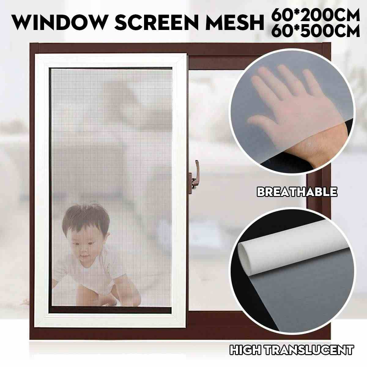 5M Dust-proof Indoor Window Screen Mesh Dustproof Insect Fly Curtain Anti PM2.5 Dust Mosquito Door Screen Denser Net Curtain