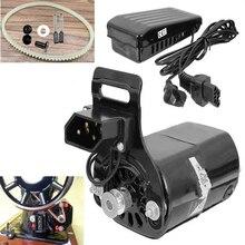 Черный 220 V 180 W 0.9A черный бытовой двигатель швейной машины + контроллер