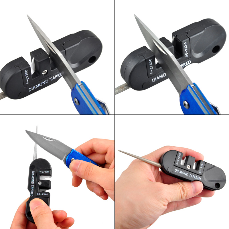 Sharpen Scissor Whetstone Diamond-Tool Pocket Multi-Hook Ceramic Carbide-Knife Outdoor title=